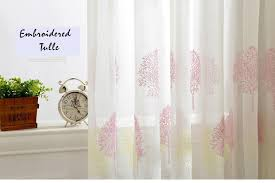 Embroidered Linen Curtains Korean White Embroidered Voile Curtains Linen Feeling Sheer