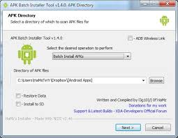 android apk apps tool apk batch installer install backu android development