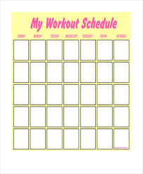printable workout plan calendar blank workout schedule templates 6 free word pdf format download