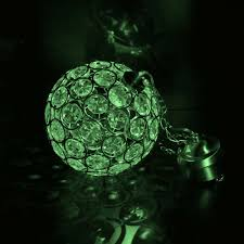 aria solar hanging crystal ball light colour changing