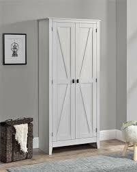 white kitchen storage cabinet rustic white farm barn door storage cabinet shabby large 72 kitchen pantry