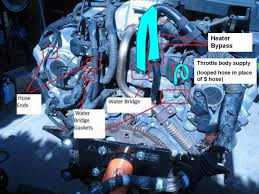 lexus v8 water pump coolant leak back of engine pull trans or engine clublexus