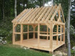 Garden Shed Floor Plans Village Post And Beam Barns And Sheds Gardening Pinterest