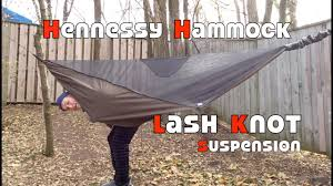hammock suspension part 4 hennessy lash knot youtube