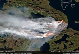 Wild Fire July 2017 by Before And After Images Of The Greenland Wildfire In July August