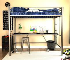 Bunk Bed Desk Underneath Dhp Furniture Metal Loft Bed With Desk
