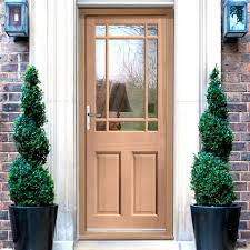 Exterior Doors Fitted Warwick Mahogany Door Fitted With Toughened Glazing