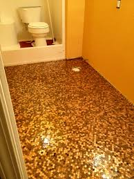 Bathroom Floor Pennies This Is My Own Penny Floor This Was Taken Before The