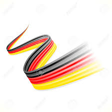 Germman Flag Abstract Waving German Flag Isolated On White Background Royalty