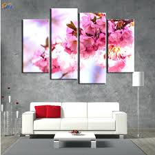 wall ideas cherry blossom wall decor red cherry blossom wall cherry blossom metal wall decor white cherry blossom wall decor 4 pcs home decor cherry blossom oil painting on canvas wall art gift hd print waterproof diy