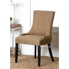 nailhead trim dining chairs dining chairs breeze dining chair in beige linen w antique brass