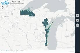 Wisconsin Cities Map by Web Mapping Applications At Wisconsin Sea Grant