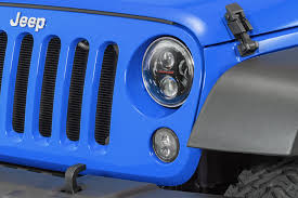 stock jeep headlights j w speaker model 8700 evolution j2 series 7