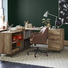 Leather Office Desk Helvetica Leather Office Chair West Elm
