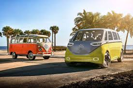 volkswagen bus painting the new vw bus is back and it u0027s electric trendland