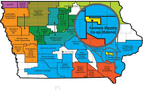 Iowa Counties Map Farmers Electric Cooperative Rural Solar Champions