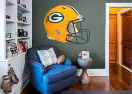 Green Bay Packers Home Decor Green Bay Packers Helmet Wall Decal Shop Fathead For Green Bay