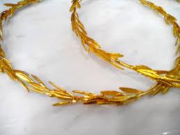 orthodox wedding crowns stefana grecian leaf headpiece in brass orthodox wedding