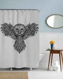 Owl Shower Curtains Majestic Owl Shower Curtain U2013 Sharp Shirter
