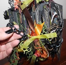 tim holtz halloween dies juju crafts halloween mini album using several tim holtz dies