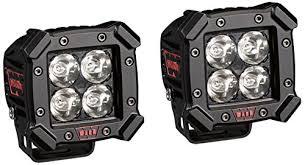 amazon led auto lights amazon com warn 93910 4 pod spot led off road light single