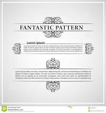 calligraphic elements vintage ornament text stock vector image