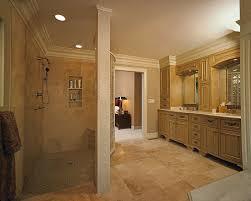 master bathroom walk in shower designs bathroom design in this award winning master bathroom a curved block wall separates the walk