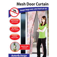 Magic Mesh Curtain Mesh Door Magic Curtain Magnetic Snap Fly Bug Insect Mosquito