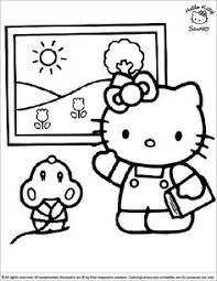 happy christmas kitty coloring pages christmas tree