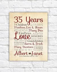 35 year anniversary wedding anniversary 35 years gifts image collections wedding