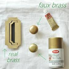 brass hardware polishing and faking it gold spray paint gold
