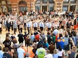 irish dance flash mob take over sydney u0027s central station video