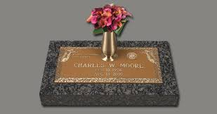 Flat Grave Markers With Vase 76088972 Png
