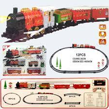 funkybuys large christmas holiday express festive train set si
