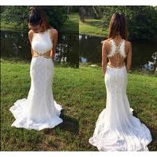 white lace prom dress backless prom dresses white prom dress lace prom gown open back