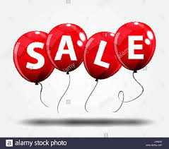 sale balloon concept of discount special offer template vector