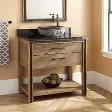 wood vessel sink vanity signature hardware