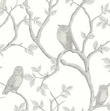essentials 33 x 20 5 enchanted forest owl and tree wallpaper roll