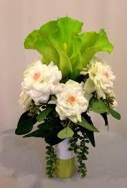 calla lily home decor artificial rose and calla lily arrangement in ceramic vase cream