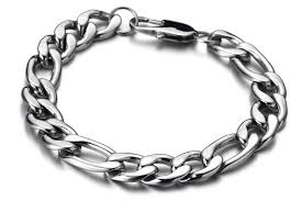 mens stainless steel chain bracelet images Stainless steel figaro chain bracelet for men mens figaro chain jpg