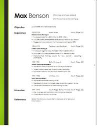 microsoft word resume template free resume template free templates word exle basic 6