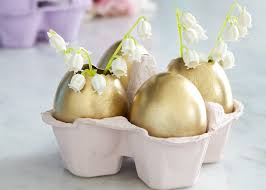Easter Egg Decorating Ideas Uk by Make A Golden Egg Flower Vase For Easter Perfect For The Kids