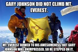 Gary Johnson Memes - gary johnson didn t climb mt everest gary johnson know your meme