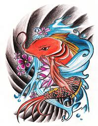 orange koi fish tattoo design by will4rts on deviantart