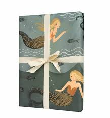 decorative wrapping paper mermaid wrapping sheets by rifle paper co made in usa