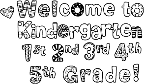 welcome kindergarten 3rd grade coloring page wecoloringpage