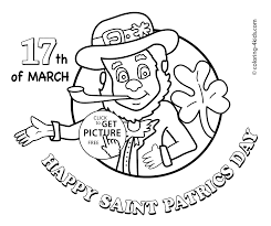 march coloring pages shamrocks in march coloring page st