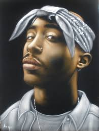 tupac earrings tupac shakur 2pac rapper black velvet original painting