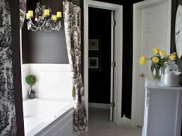 grey bathrooms decorating ideas dark brown varnished wooden frame