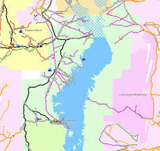 lake mead map lake mead nra california trail map